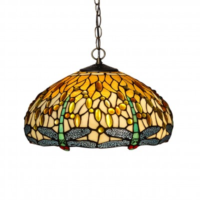 CD16511 - Lampadario dragonfly giallo