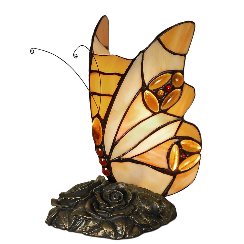 AB08014 - Abat-jour stile Tiffany Farfalla miele