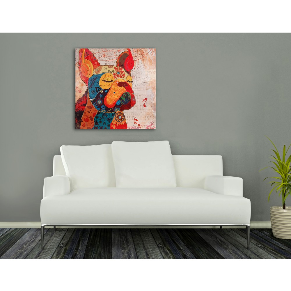 AS368X1 - Bouledogue Francese Pop Art rosso