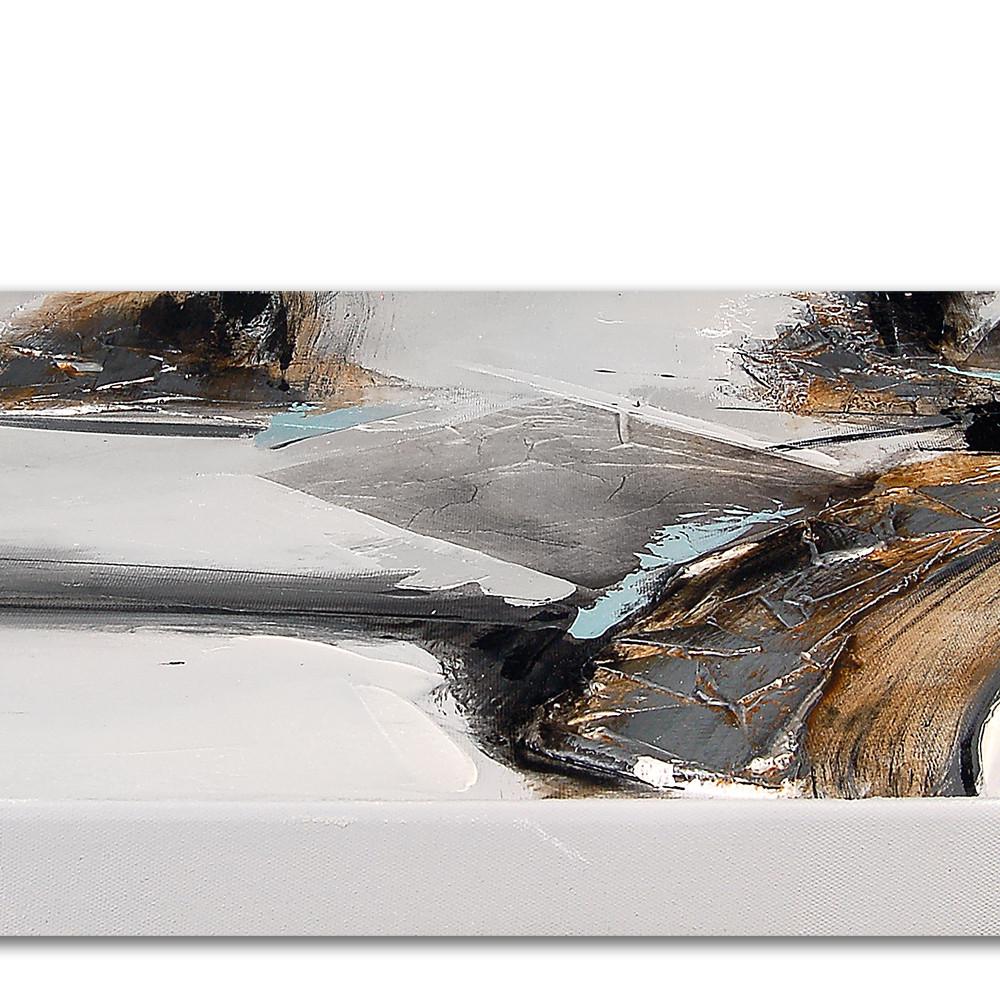 AS393QX1 - Quadro astratto su 4 telai grigio e bianco