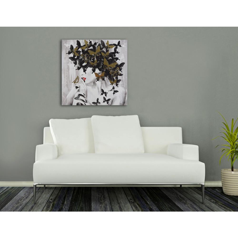 AS462X1 - Donna farfalle nere e dorate