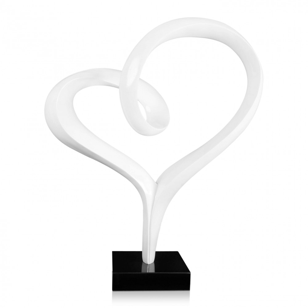D6679PW - Cuore bianco