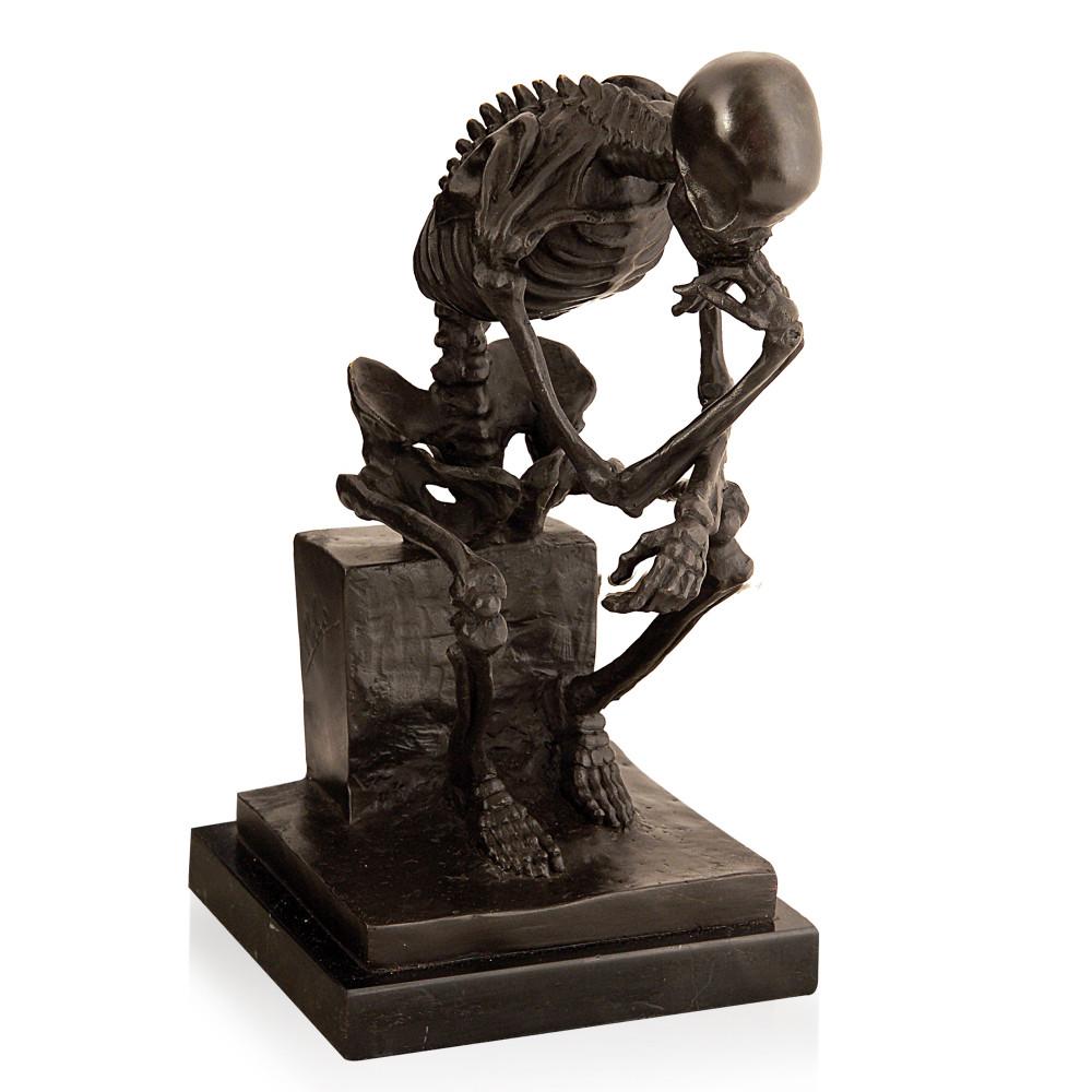 EP073 - Statua in bronzo Scheletro pensatore