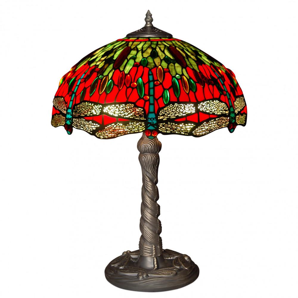 GD16322 - Lampada da tavolo dragonfly rosso e verde