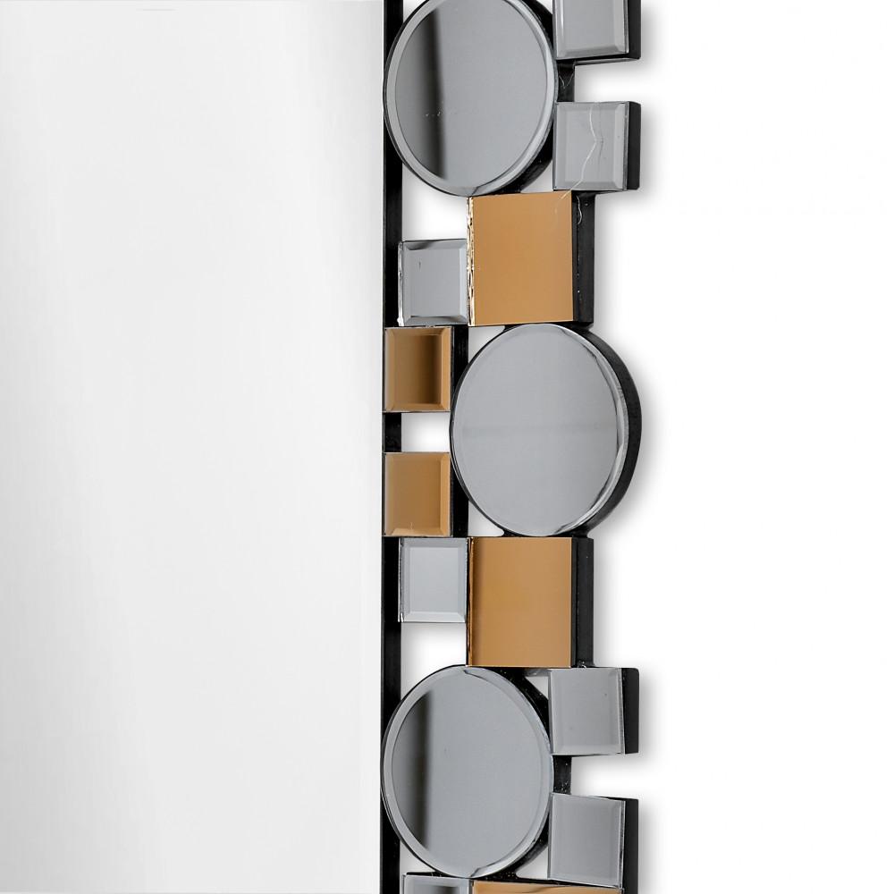 HM019A12080 - Specchio moderno cerchi e quadrati