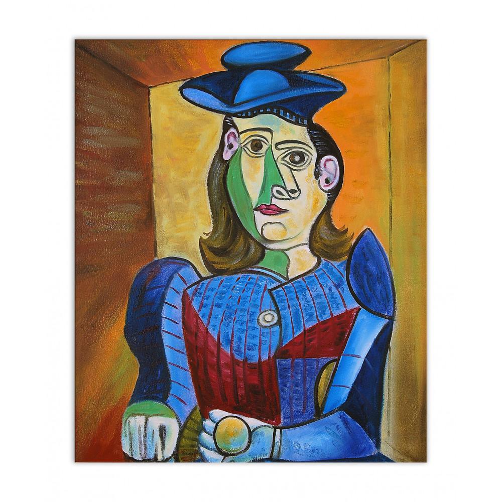 PC017EAT-01 - Donna con cappello blu