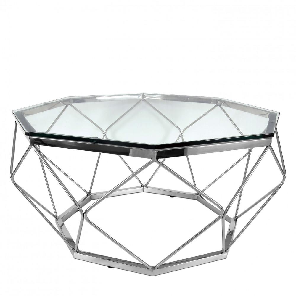 SCT001A - Tavolino Diamond acciao inox