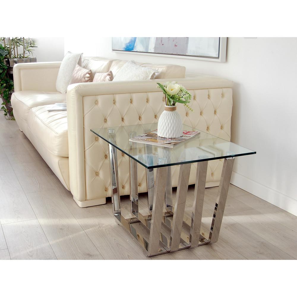 SST014A - Tavolino da lato divano Galleyworn serie Luxury