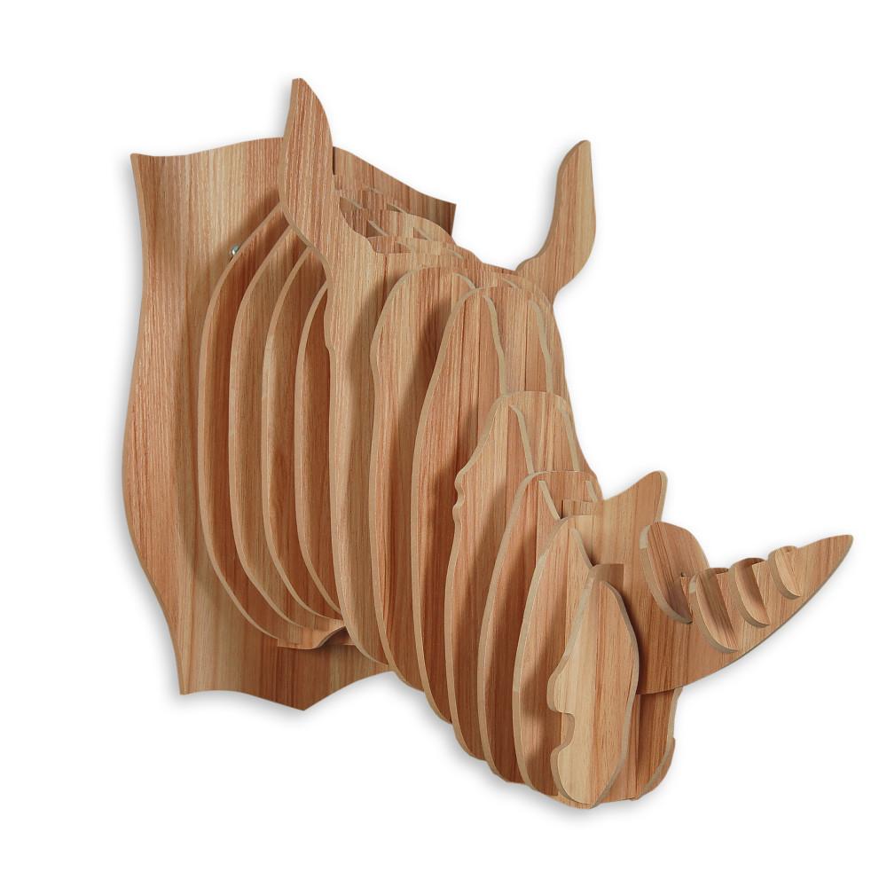 WD004MA - Puzzle in legno Rinoceronte faggio
