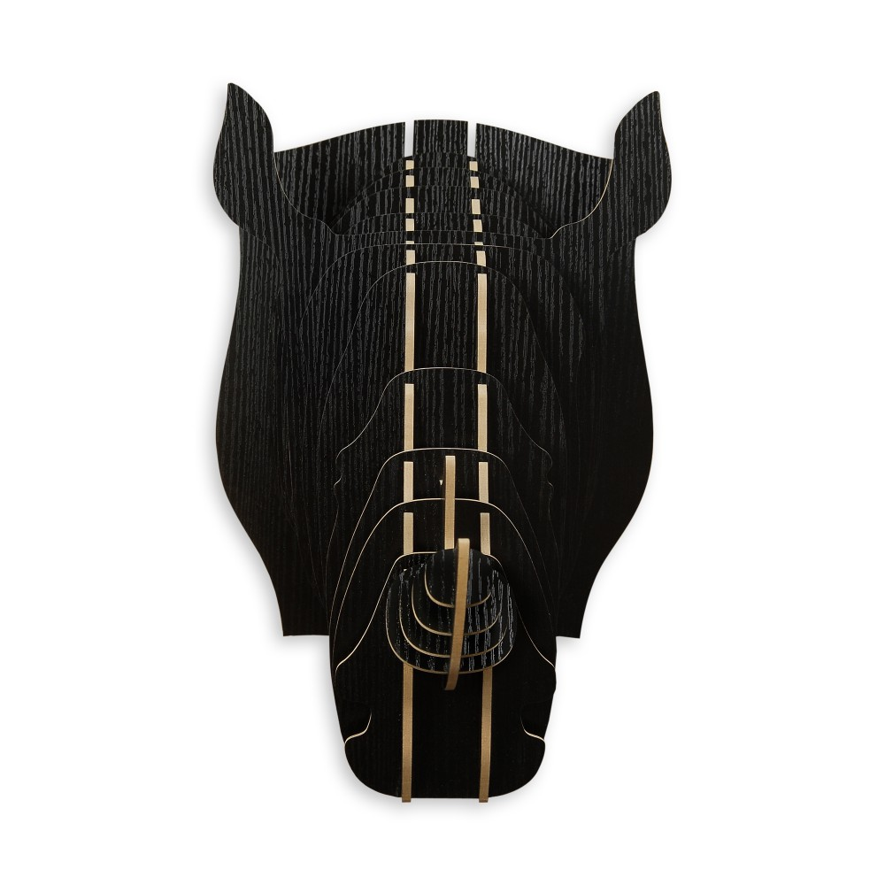 WD004MB - Puzzle in legno Rinoceronte nero