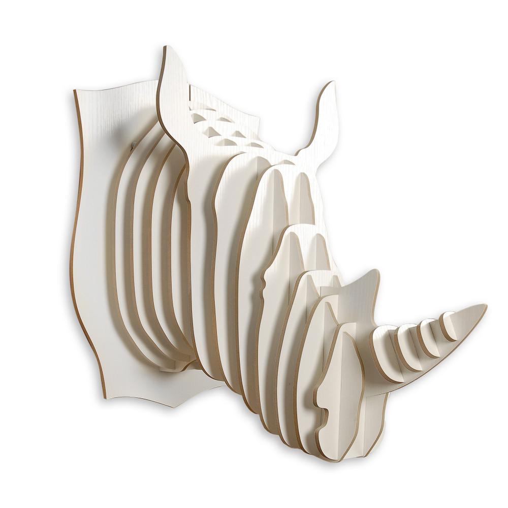 WD004MW - Puzzle in legno Rinoceronte bianco