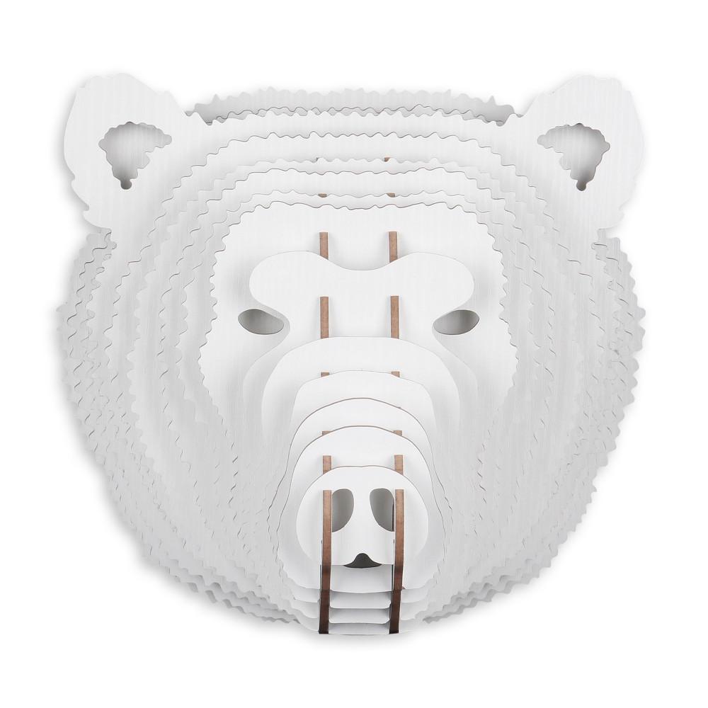 WD029MW - Puzzle in legno Orso bianco
