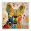 AS362X1 - Bouledogue Francese Pop Art giallo
