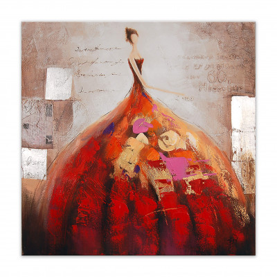 AS258X1 - Painting of a Woman in a Fluffy Dress