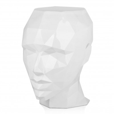 FPE5550PW - Low poly woman's head side table
