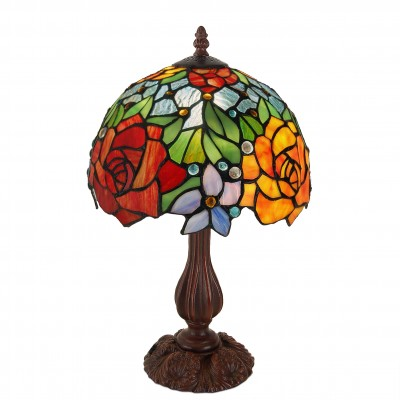 GF10111 - Bedside table lamp with roses