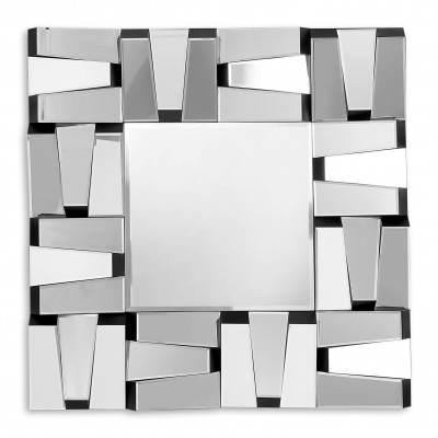 HM024A8080 - Embossed rectangles mirror