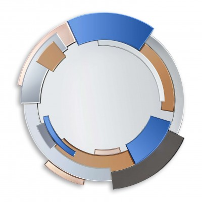 HM030A8080 - Abstract mirror with circular bands