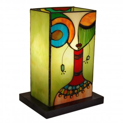 TE07008 - Modern ethnic woman bedside lamp