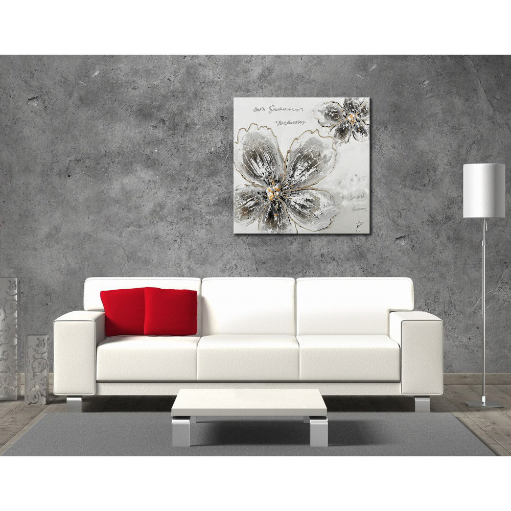 AS439X1 - Silver flowers