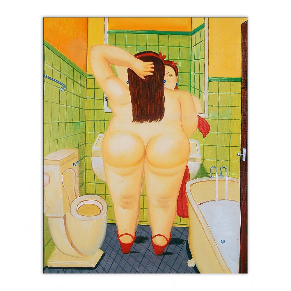 BO208BAT-02 - Woman in the toilet