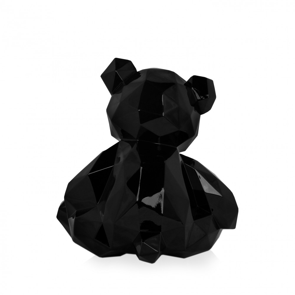 D3028PB - Black multi-faceted teddy bear