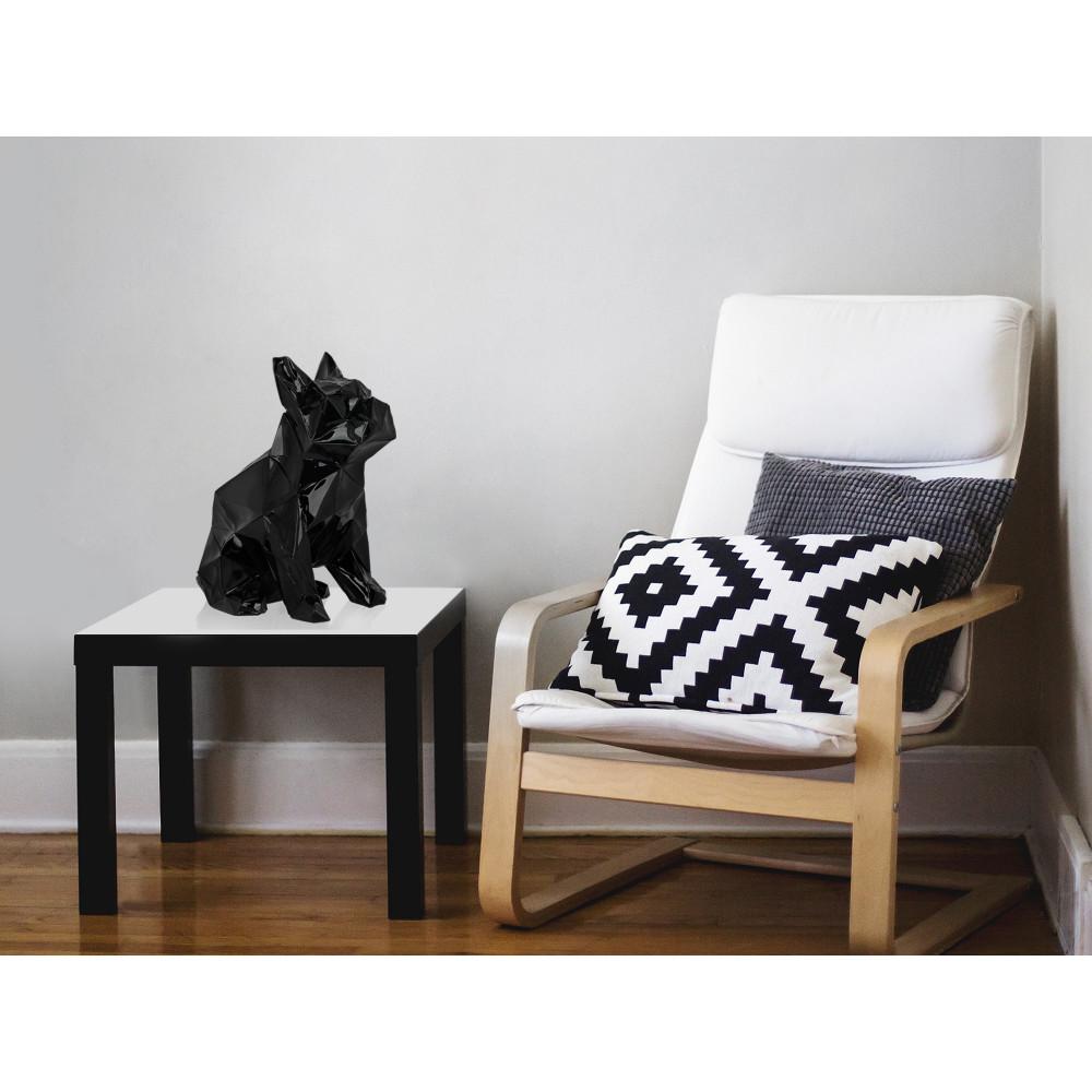 D4034PB - Low Poly sitting bulldog
