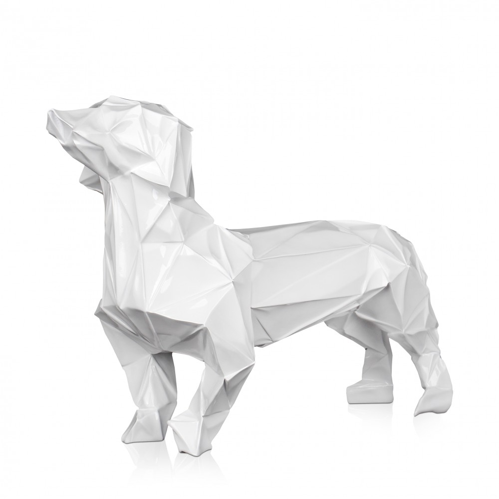 D5639PW - Low Poly basset hound