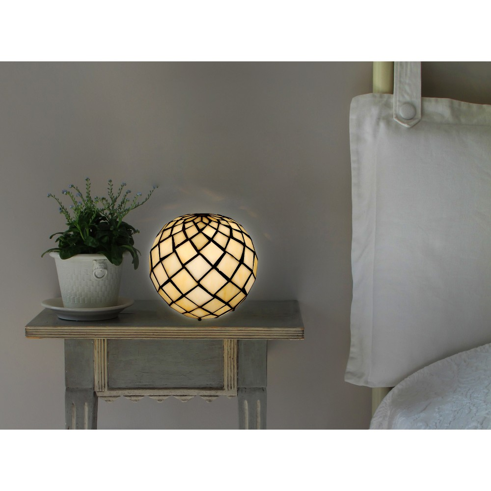 THA1816 - Bedside table lamp sphere with pearls
