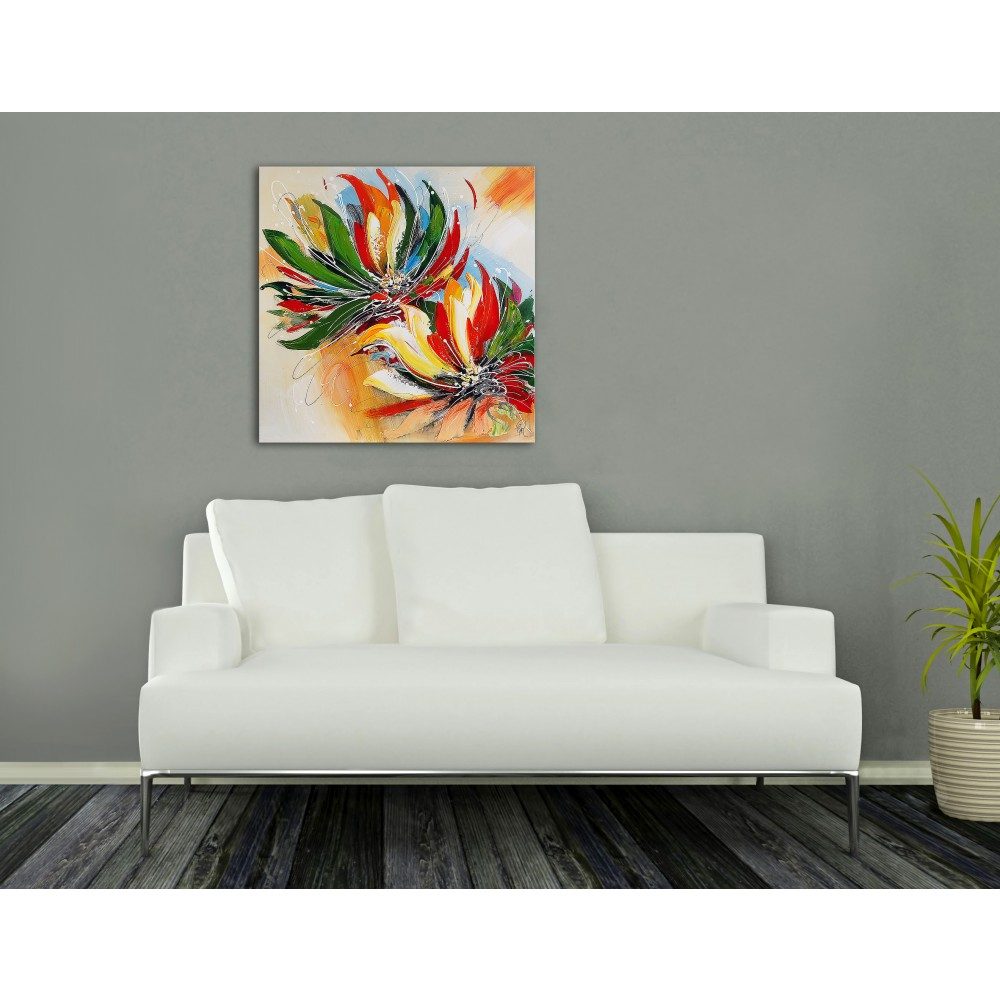 AS386X1 - Mehrfarbige Blumen