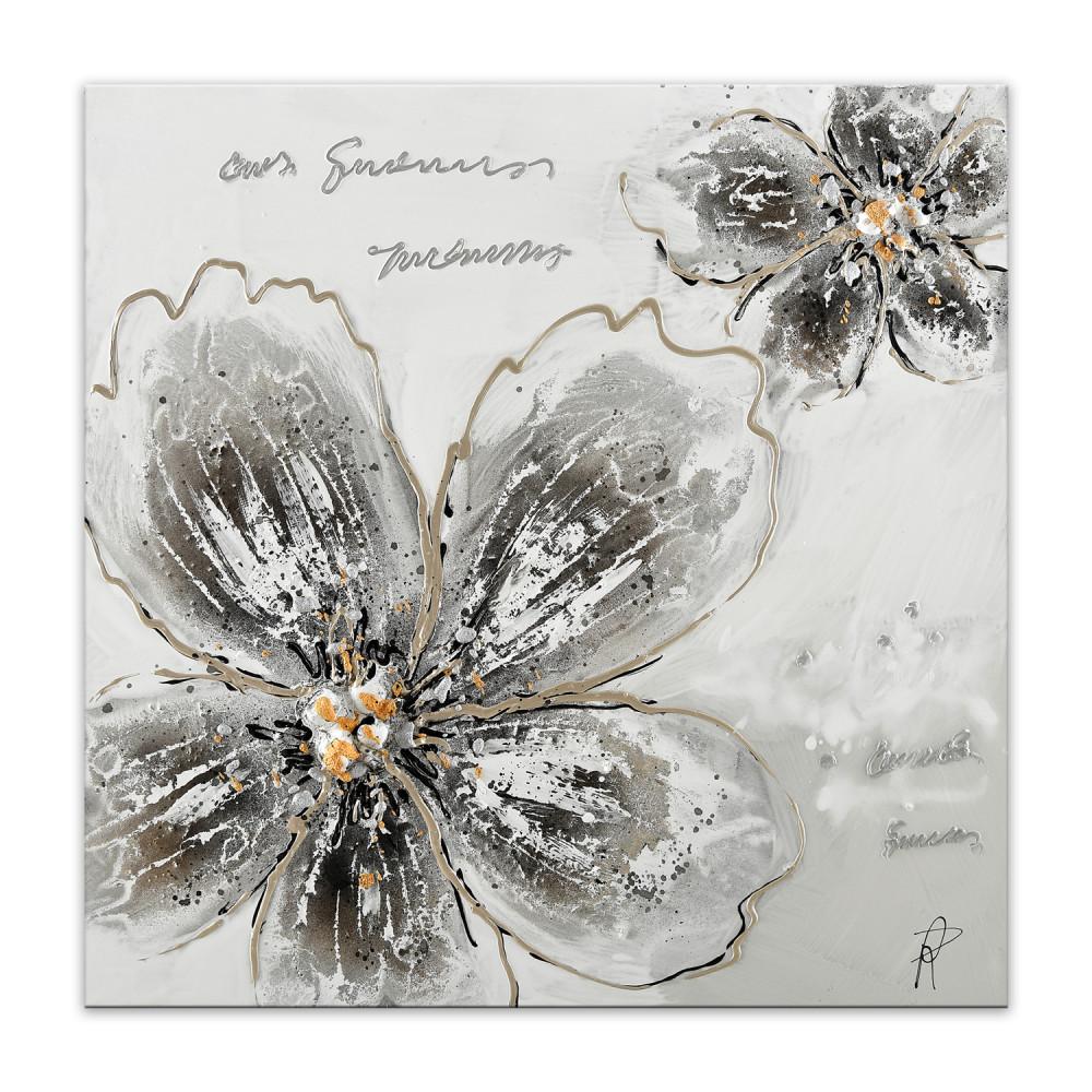AS439X1 - Versilberte Blumen