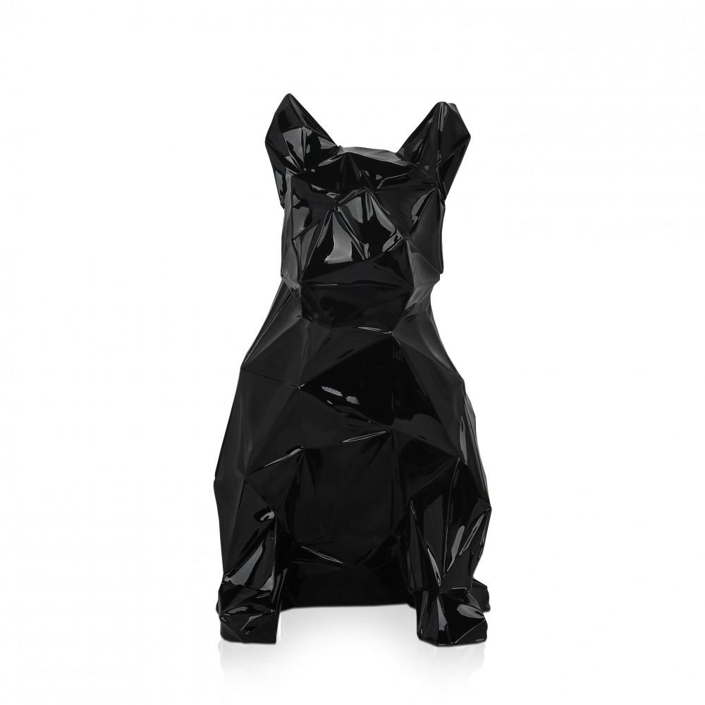 D4034PB - Facettierte sitzende Bulldogge