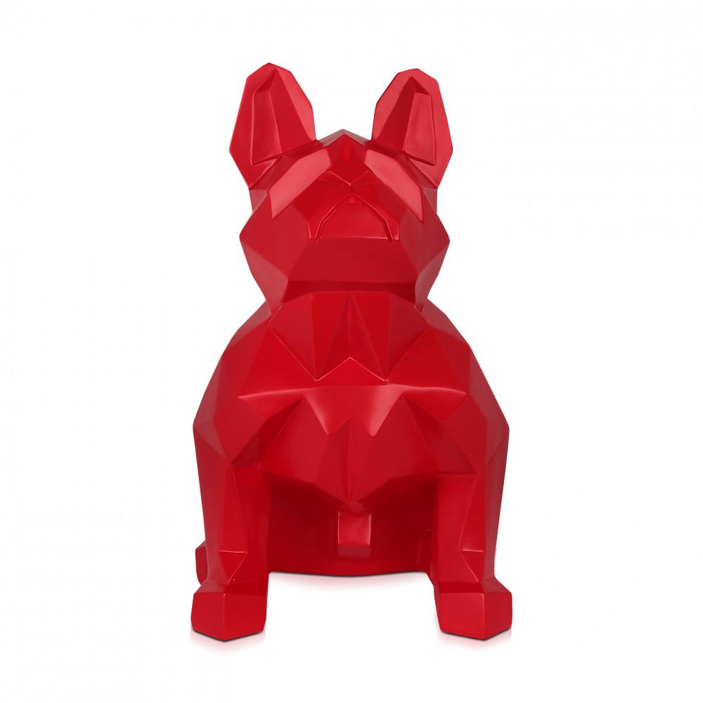 D6253SR - Facettierte sitzende Bulldogge