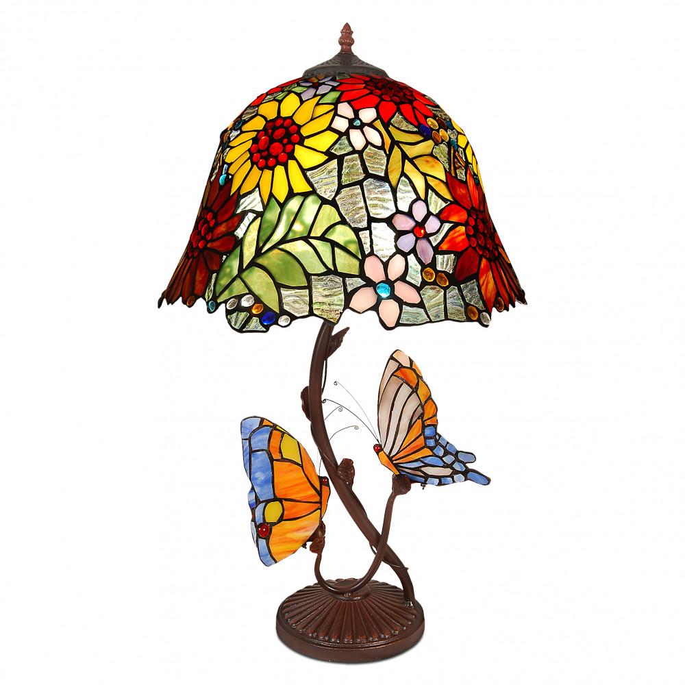 GF16212 - Tischlampe mit Blumen und Schmetterlingen
