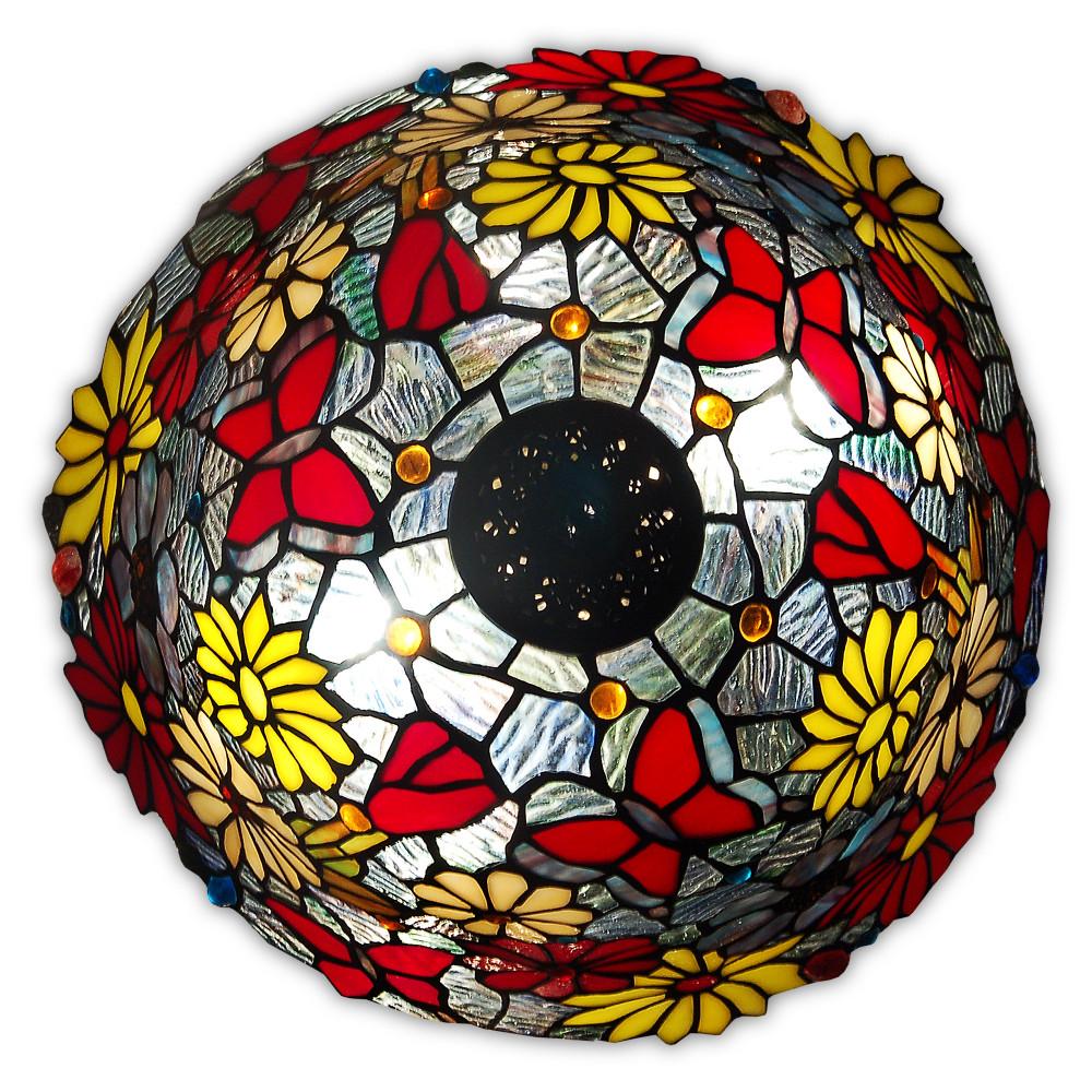 GF16826 - Tischlampe mit Blumen und Schmetterlingen