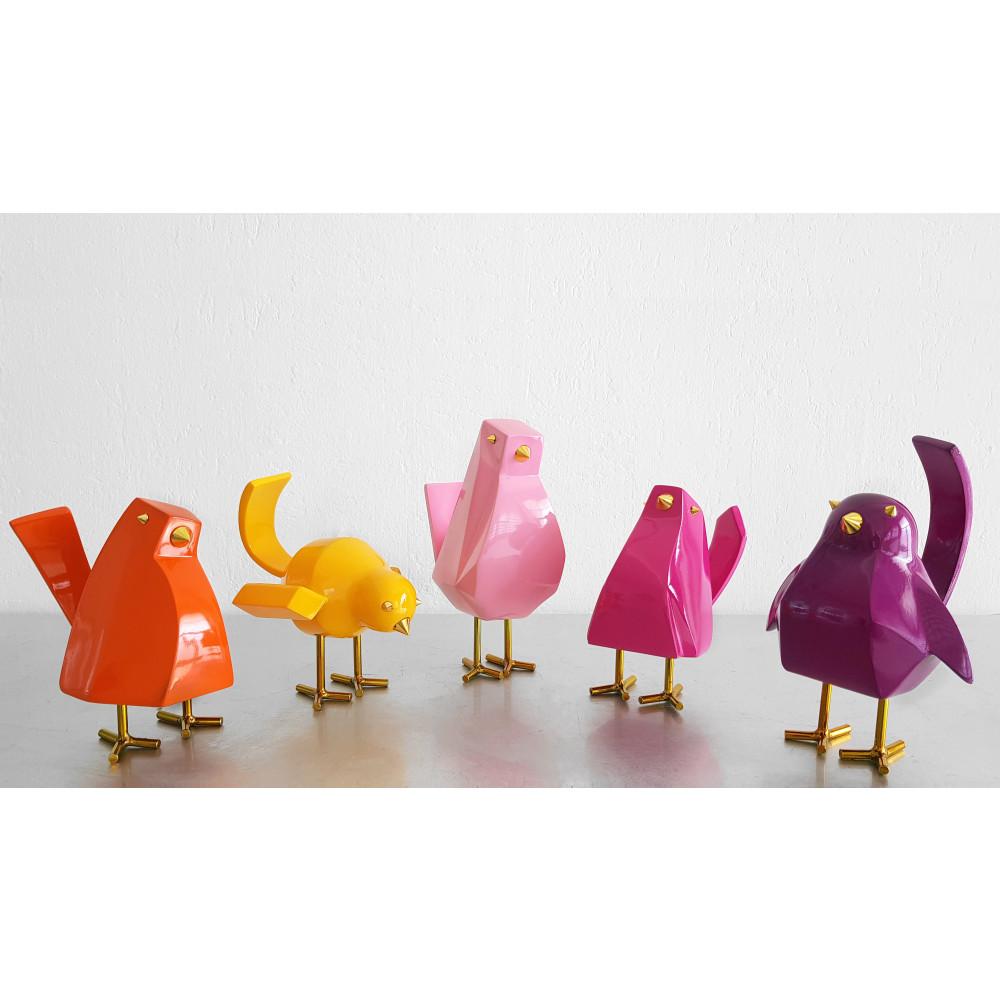 D1408PO - Orangefarbener kleiner Vogel